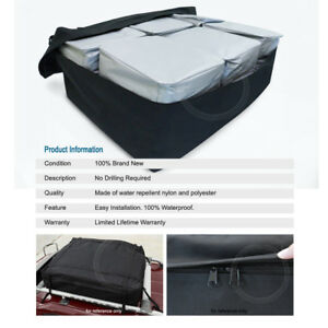 Rooftop Mount Waterproof Cargo Bag Expandable Travel Luggage Carrier For Chevy