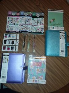 A4 Purple Or Blue Creative Year Happy Planner Lot 5 Items Sticker Book