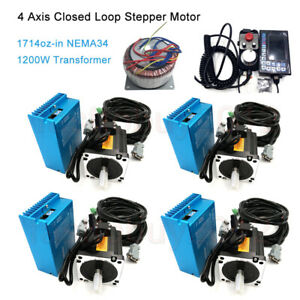4axis Nema34 12nm Motor Drive Closed Loop Stepper Kit power Supply Controller