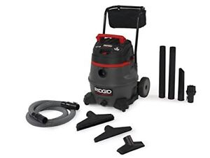 Ridgid Portable Commercial Garage Shop 16 gallon 2 stage Wet Dry Vacuum Cleaner