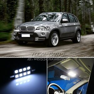 20pcs Error Free Xenon White Led Lights Interior Package Kit For Bmw X5 X6 K92