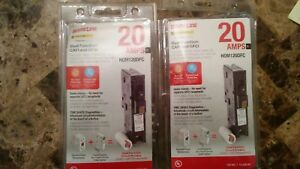 Lot Of 2 Square D Homeline Hom120dfc Dual Function 20a