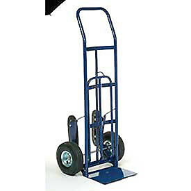 Industrial Strength Steel Hand Truck With Curved Handle Stair Climbers Lot Of