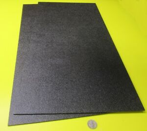 Black Abs Sheet 1 8 125 X 12 X 24 Haircell Textured One Side 2 Units