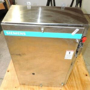 Siemens Stainless Steel Starter Non fusible Enclosure Disconnect 36 X 24 x11 5
