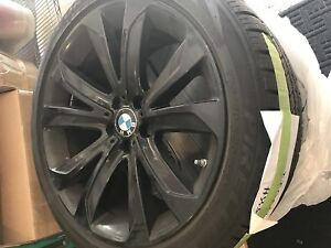 Bmw 275 40 R 20 Snow Tire And Black 20 Inch Rims