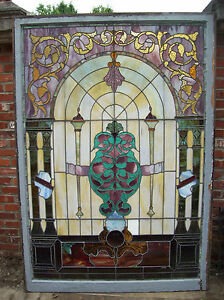 Large Stained Glass Window Beautiful Features Sg 1486
