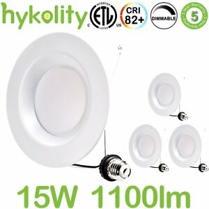 Hykolity 5 6 Inch Led Downlight Recessed Can Light Integrated Baffle 15w