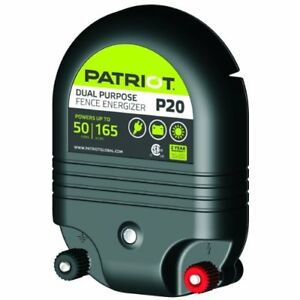 Patriot P20 Dual Purpose Electric Fence Energizer 2 0 Joule