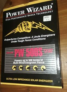 Electric Fence Energizer Charger Power Wizard Pw500s Up To 500 Acres Multi Wire