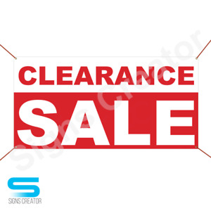 Clearance Sale Banner Vinyl Business Advertising Sign Holiday Sale Banner