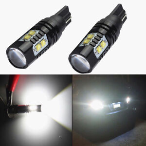 2x 50w Cree 921 912 T10 Led 6000k Hid White Backup Reverse Lights Bulbs Lamps