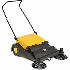 Industrial Push Sweeper 32 Cleaning Width Black And Yellow Lot Of 1