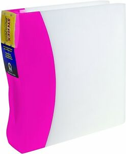 Storex Duratech Binder 2 inch Hard Poly Pink Case Of 4 23234u04c