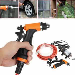 100w 12v High Pressure Car Electric Washing Machine Cleaning Pump Kit