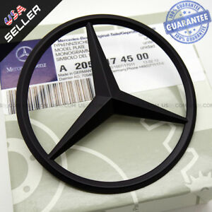Luggage Lid Star Logo Trunk Rear Emblem W205 Modified C Class Sedan Matte Black