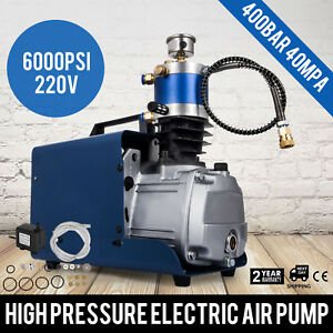 40mpa Electric Air Compressor Pump Pcp System Rifle 400bar 6000psi High Pressure
