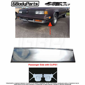 81 88 Cutlass Lower Fender Chrome Molding Trim front Of Tire Right With Clips