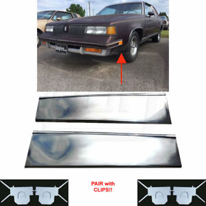 81 88 Cutlass Lower Fender Chrome Molding Trim Front Of Tire Pair With Clips