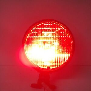 Rare working vintage Dietz 510 Police Fire Truck Red Lens Beam Light dent Free