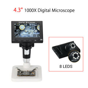 Us Professional 1080p Hd Dm3 1000x Zoom Digital Microscope Magnifier With Stand