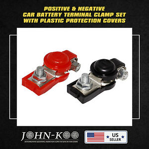 Battery Terminal Connector Clamp Ring Cover Universal Car Audio Racing
