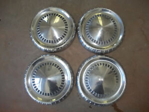 65 66 Ford Truck Dog Dish Hubcap Wheel Cover Center Hub Cap 9 1 2 Poverty Set