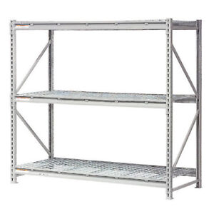 Extra High Capacity Bulk Rack With Wire Decking Starter Unit 96 w X 24 d X