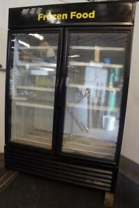 True 2 Glass Door Freezer Merchandiser W Led Lights 2016 Model Ice Cream Or Ff