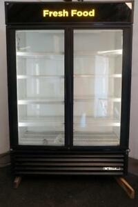 True Gdm 49 2 Glass Door Cooler Merchandiser For Soda Beer Produce Or Deli Meat