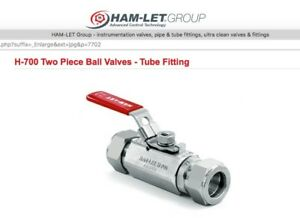 Ham let Ball Valve Stainless Steel Lever Locking Handle 1 4 Tube Fitting New