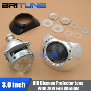 Upgrade 3 0 H1 Hid Bi xenon Projector Lens Zkw Shrouds For Bmw E46 Headlight
