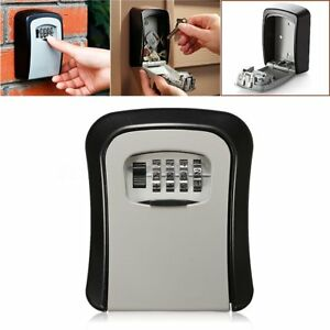 4 Digit Combination Password Key Box Wall Mount Safety Lock Organizer Case Ws