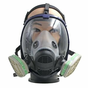 Full Face Respirator Anti Ammonia Gas Mask With Filter For Painting Spraying Hl