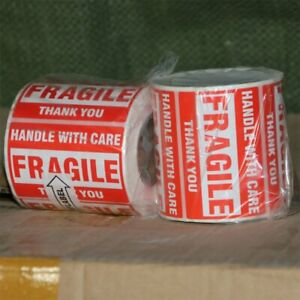2 Roll 2 x3 Fragile Stickers Handle With Care Thank You Shipping Warning Labels