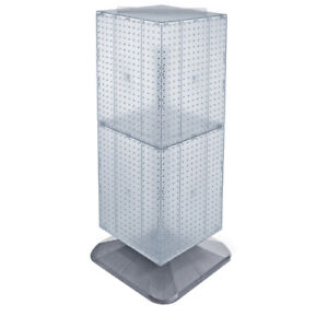 4 Sided 14 X 40 Rotating Plastic Pegboard Floor Display Stand 10 Colors