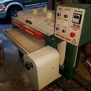 G0450 Grizzly 37 Drum Sander 15 Hp 3 phase With Dro