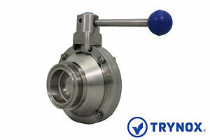 2 Sanitary Ball Valve Clamp Ends 304 Stainless Steel Trynox