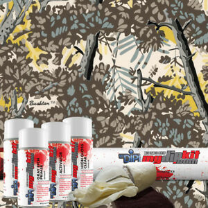 Hydrographics Film Dip Kit Water Transfer Printing Hydro Dip Bushlan Gray Rc350