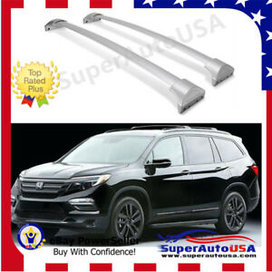 Fit For 2016 2019 Honda Pilot Silver Roof Rack Cross Bars Luggage Cargo Carrier