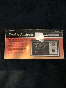 Vintage 80s Sears Engine Tune Up Analyzer Model 161 216300 Made Usa