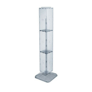 4 Sided 8 X 60 Rotating Plastic Pegboard Floor Display Stand 10 Colors