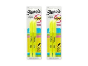 2 Pack Of Sharpie Accent Fluorescent Yellow Pocket style Highlighters