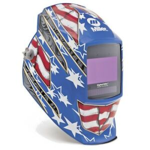 Miller 281 002 Digital Elite Stars Stripes Iii Welding Helmet