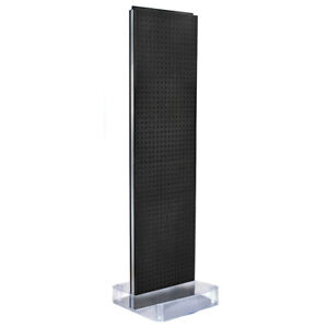 2 Sided 16 X 60 Plastic Pegboard Modern Floor Display Stand 10 Colors