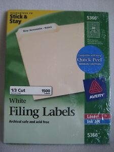 Avery Permanent Filing Labels 5366