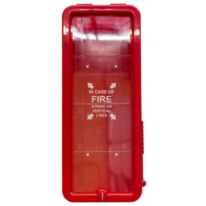 6 Pk Fire Tech 10 Lb Fire Extinguisher Cabinet Indoor outdoor Red Free Ship