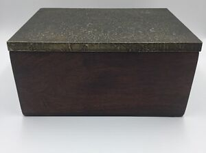 Antique Wooden Hinged Document Jewelry Box Nice Patina