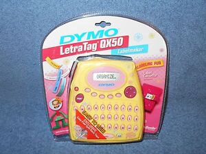 Dymo Letratag Qx50 Labelmaker Yellow Pink New In Package