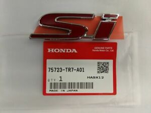 Genuine Honda Civic Rear Si Emblem 4dr 75723 tr7 a01 2013 2015